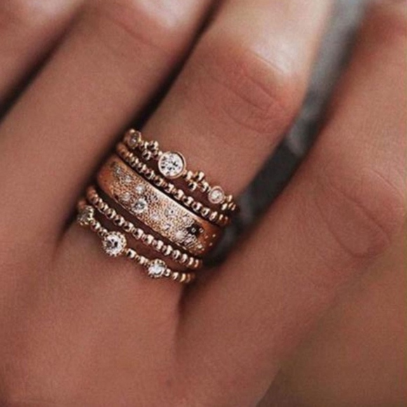 Pear Stacking Ring On Hand